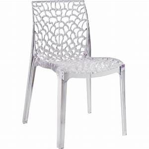 chaise de jardin en polycarbonate grafik lux transparent With leroy merlin chaise de jardin