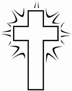 Image: Black and White Shining Cross | Cross Image ...