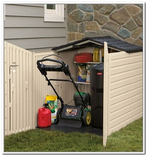 Lawn Mower Storage Shed by Push Mower Storage Find A Way To Build Your Own With
