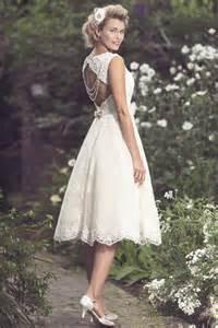 tea length wedding dresses for brides brighton 1950s retro tea length lace wedding dress