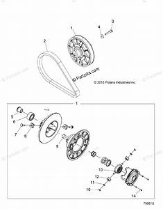 Polaris Side By Side 2016 Oem Parts Diagram For Drive Train  Secondary Clutch Z16vaa87a2  A9  Al
