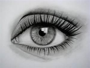 Dibujos de ojos a lápiz Dibujos