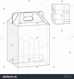 six pack carrier box with die cut template stock vector With six pack carrier template