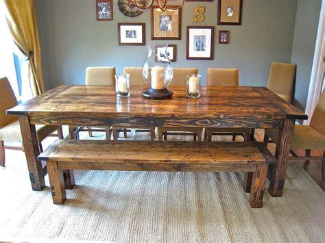 farmhouse table with bench artistic and unique diy farmhouse table ideas