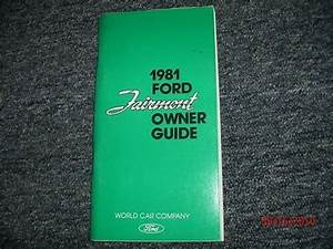 Nos 1981 Ford Fairmont Factory Original Owners Manual