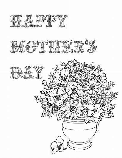 Coloring Pages Printable Mother Mothers Sheets Designs