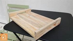 Plateau De Bois : fabriquer un plateau en bois de palettes tuto diy bricolage facile ~ Teatrodelosmanantiales.com Idées de Décoration