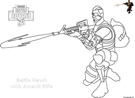 coloriage assault rifle shot fortnite dessin