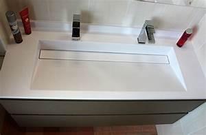 Rénovation d'un Meuble avec une Grande Vasque et 2 Robinets ! Atlantic Bain
