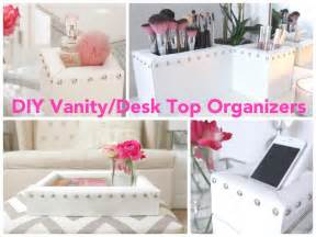 diy vanity desk top organizers youtube