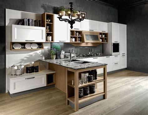 cucine con mensole rovere massello per york di stosa cucine il modello 232