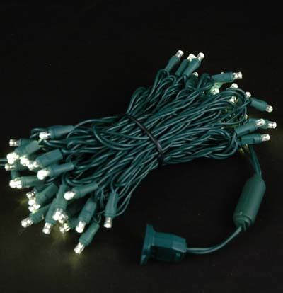 50 led christmas lights white twinkling led christmas lights on green wire with 50 wide