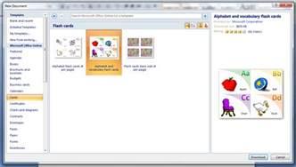 Flash Card Template Microsoft Word
