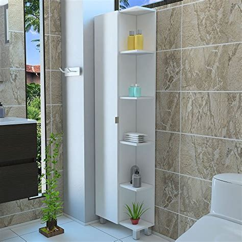 rta design  side shelves tall corner bathroom cabinet