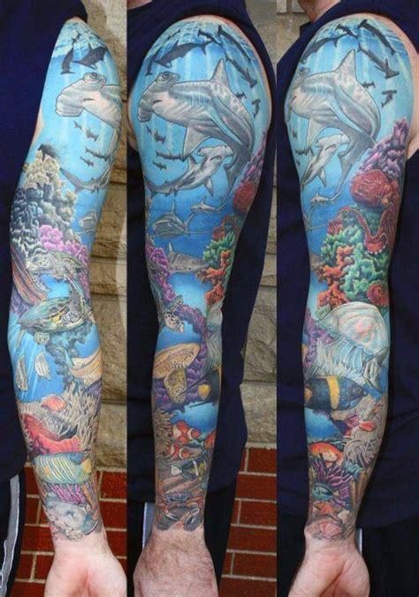 coral reef tattoo designs  men aquatic ink mastery