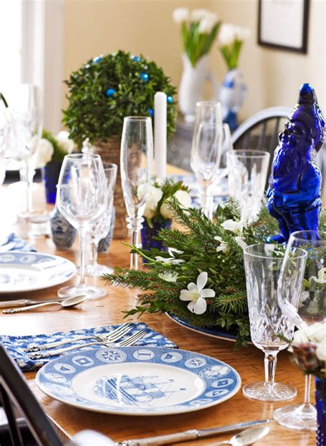 decorating details beautiful blue  white accents