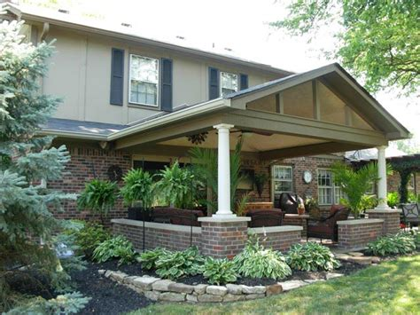 Porch Column Styles by Covered Patio Roof Addition In Carmel In Gettum