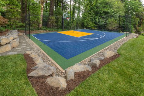 How To Make A Court In Your Backyard by Tips To Make Your Own Basketball Court Stencils Layouts