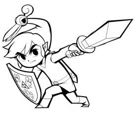 Zelda Toon Link Coloring Pages