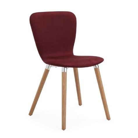 Daphné Chaise Design Scandinave Bordeaux  Rouge Achat
