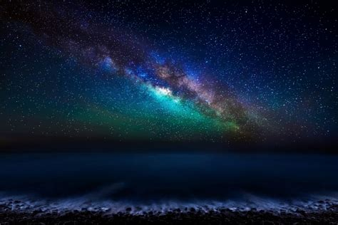Canary Islands Atlantic Ocean Sky Night Star Milky Way Hd