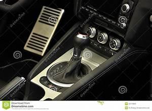 Manual Transmission Super Sport Car Interior Stock Image
