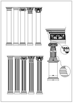 Pin by CAD Blocks&Drawings on Neoclassical Design,Column Design,Column Details,Wrought iron