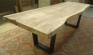 Table Bois Metal Avec Rallonge : fabrication table en vieux bois ~ Melissatoandfro.com Idées de Décoration