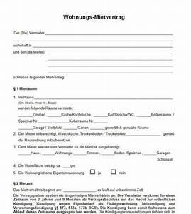 Muster Mietvertrag Kündigen : mietvertrag muster download ~ Watch28wear.com Haus und Dekorationen