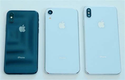 new iphone 2018 on with 6 1 inch and 6 5 inch 2018 iphone dummy