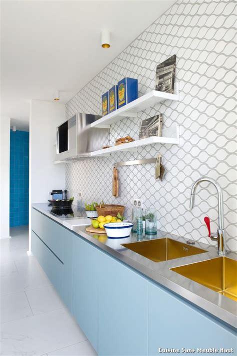 cuisine meuble haut cuisine sans meuble haut with industriel cuisine décoration de la maison et des idées de