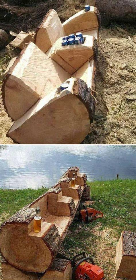 amazing diy tree log projects   garden