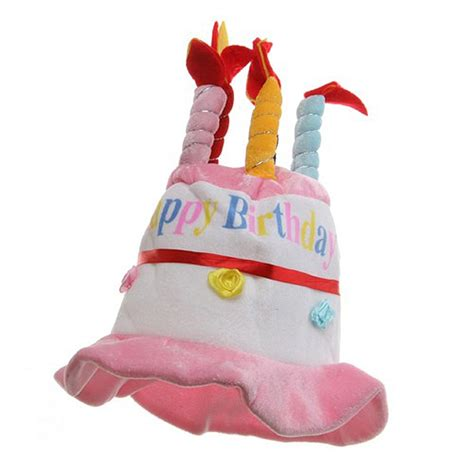 birthday hat pink velvet happy birthday hat party hat