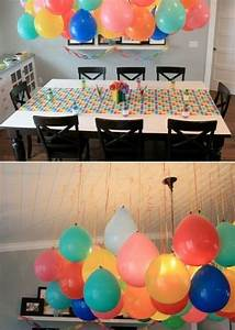 Balloon decorations without helium smart since there is a for Simple smart party decoration ideas