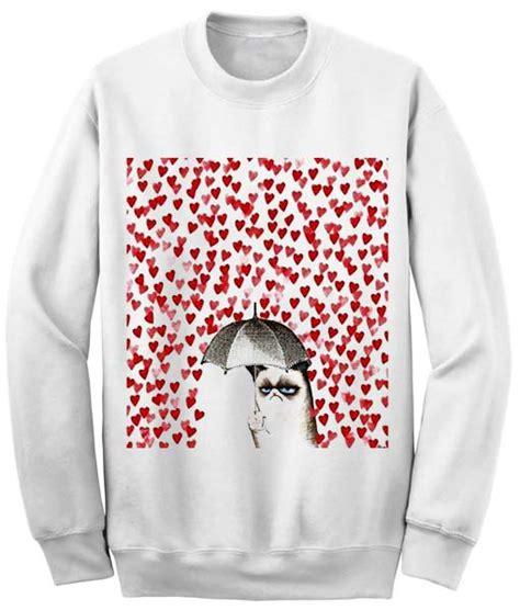 grumpy cat sweater unisex crewneck grumpy cat sweatshirts sweater