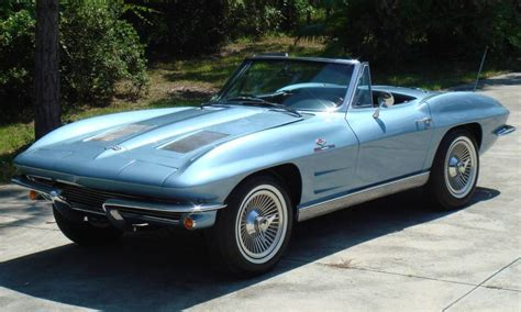 blue  corvette convertible  aucton results