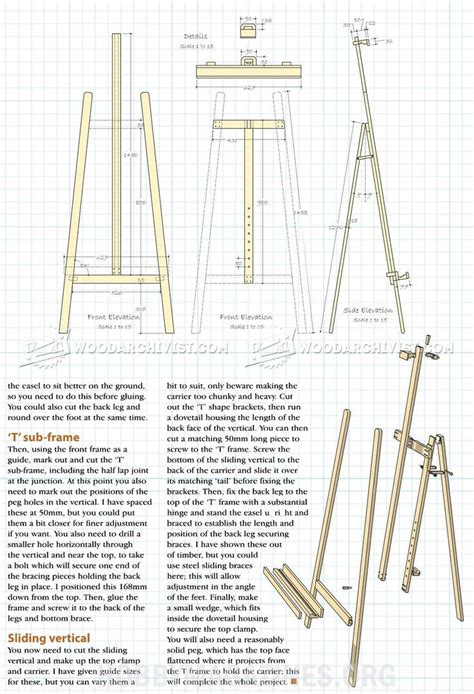 artist easel plans woodworking plans easels