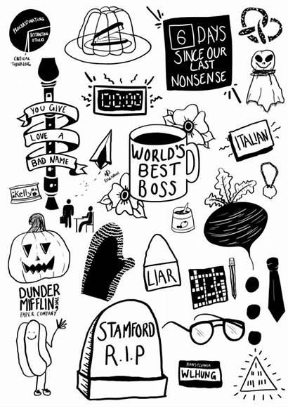 Dunder Mifflin Office Clipart Doodle Paper Rosie