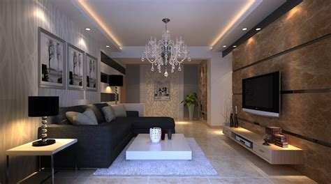 Nice Living Room At Night