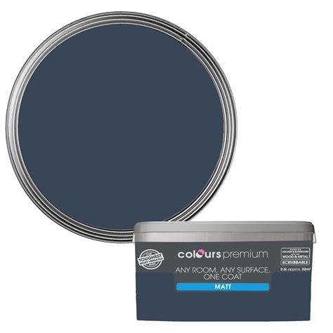 blue paint colors b q hallway colour colours premium any room one coat blue sea matt emulsion paint 2 5l
