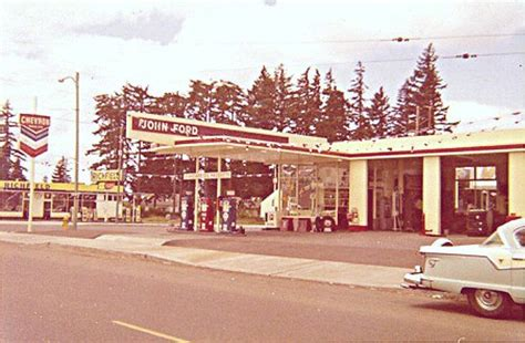 John Ford Chevron Dealer, Portland, Oregon, in June of