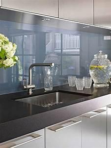 Wohnideen fur kuche glasruckwand glanzvoll farben for Glasrückwand küche ikea
