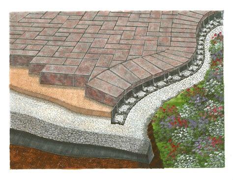 patio paver edging barrier zipper galleries barrier paver edging