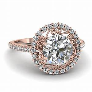 Micropave halo ring fascinating diamonds for Rose gold diamond wedding rings