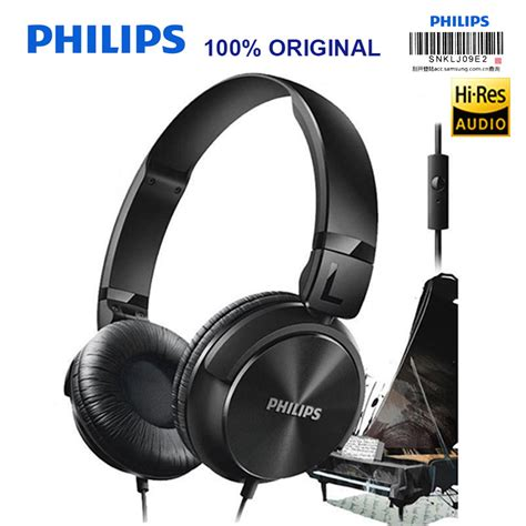 philips shl3065 headphone with noise reduction wire microphone headband design for