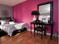 fine bedroom accent wall Colors Of Nature: Contemporary Interiors With A Dash Of Fuchsia Freshness