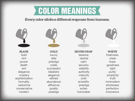 meaning of the color gold every color elicits a different
