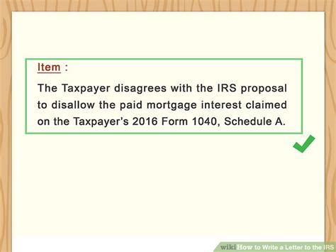 ways  write  letter   irs wikihow