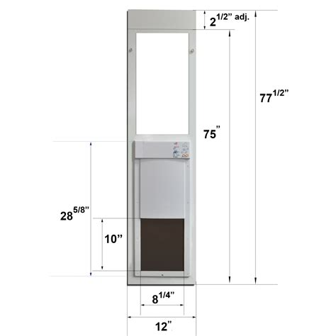 electronic patio pet door fully automatic pet doors made just for sliding glass doors