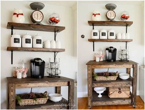 Lots of room for a coffee maker, coffee pod. Top 10 Coffee Station Ideas for Your Kitchen - Top Inspired
